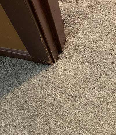 after the carpet was repaired