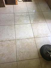 tile cleaning before cleaning